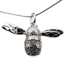 Load image into Gallery viewer, Sterling Silver Bee Charm Necklace