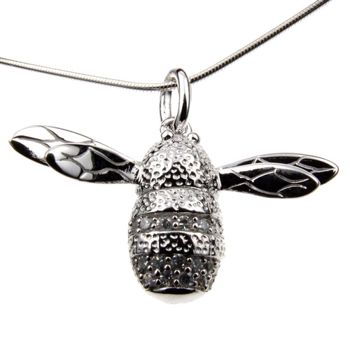 Sterling Silver Bee Charm Necklace