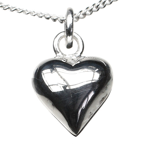 Puffed Heart of Love Sterling Silver Charm - Clip or Chain available
