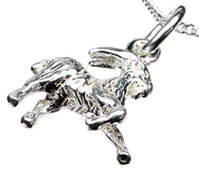 Load image into Gallery viewer, Capricorn Goat Silver Charm Necklace