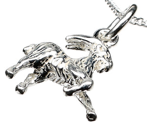 Capricorn Goat Silver Charm Necklace