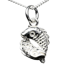 Load image into Gallery viewer, Pisces Zodiac Fishes Sterling Silver Charm - Clip or Chain available