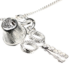 Load image into Gallery viewer, Sterling Silver Sewing Set Scissors Thimble Charm