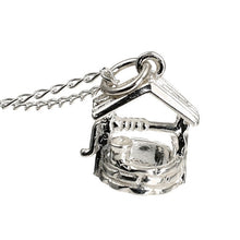 Load image into Gallery viewer, Wishing Well Silver Silver Charm