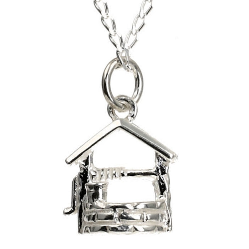 Wishing Well Silver Silver Charm