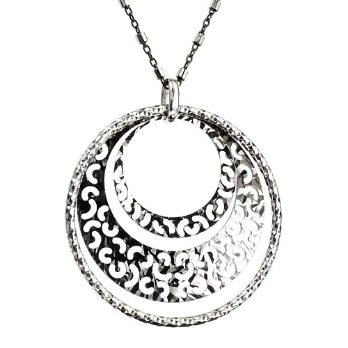 Triple Mesh Sterling Silver Necklace