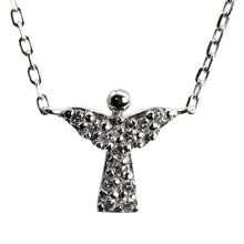 Load image into Gallery viewer, Guardian Angel by my Side Silver Necklace