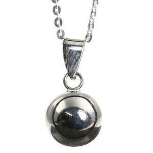 Sterling Silver Ball Pendant and Chain