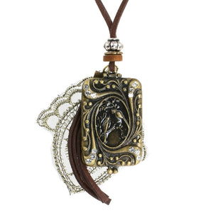 Steampunk Ornithological Locket Necklace