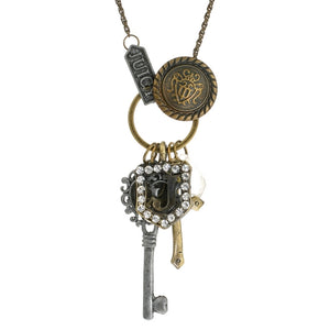 Steampunk Juicy Key Charm Collection Necklace