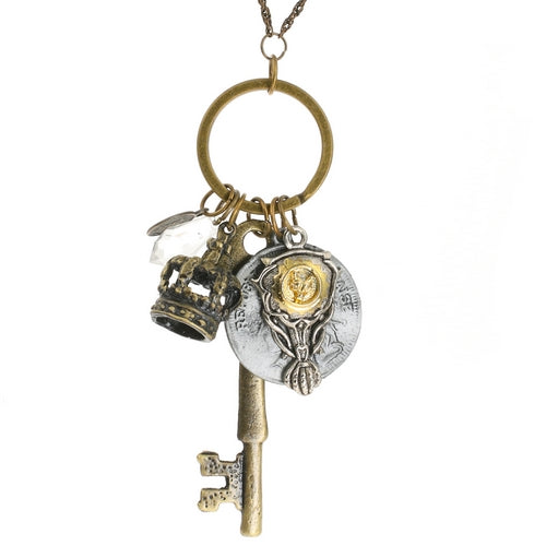 Steampunk Key to the French Throne Royalty Necklace