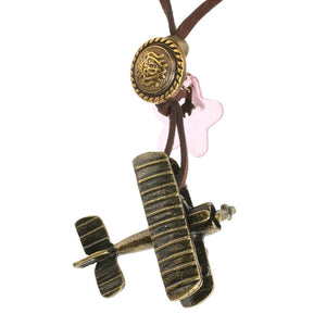 Steampunk Bi Plane Aeronautiqua Necklace