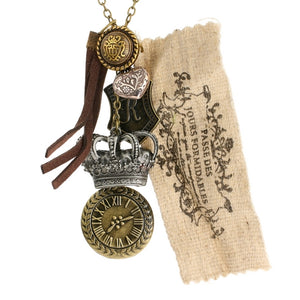 Steampunk Regal Time Shield Necklace