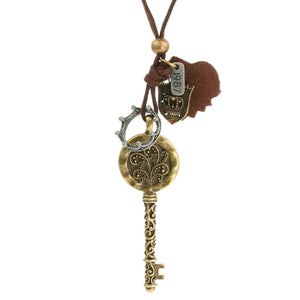 Steampunk Aero 1987 Key to the Throne Necklace