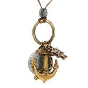 Steampunk Nautical Keys and Coins Necklace