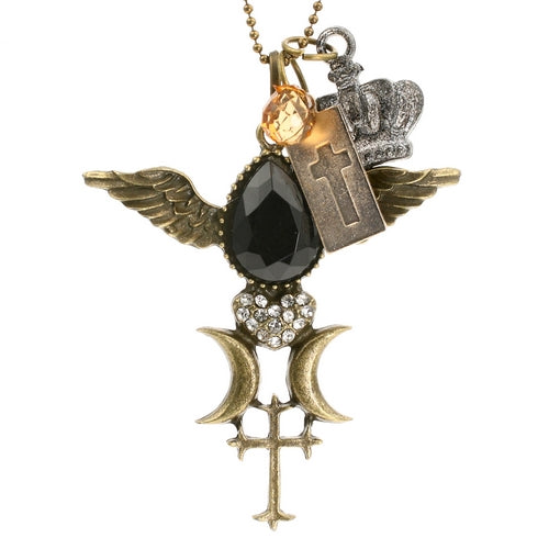 Steampunk Royal Jewelled Religious Necklace