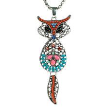 Load image into Gallery viewer, Autumn Foxy Fox Necklace Unusual