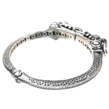 Load image into Gallery viewer, Sterling Silver Double Headed Dragon Bracelet