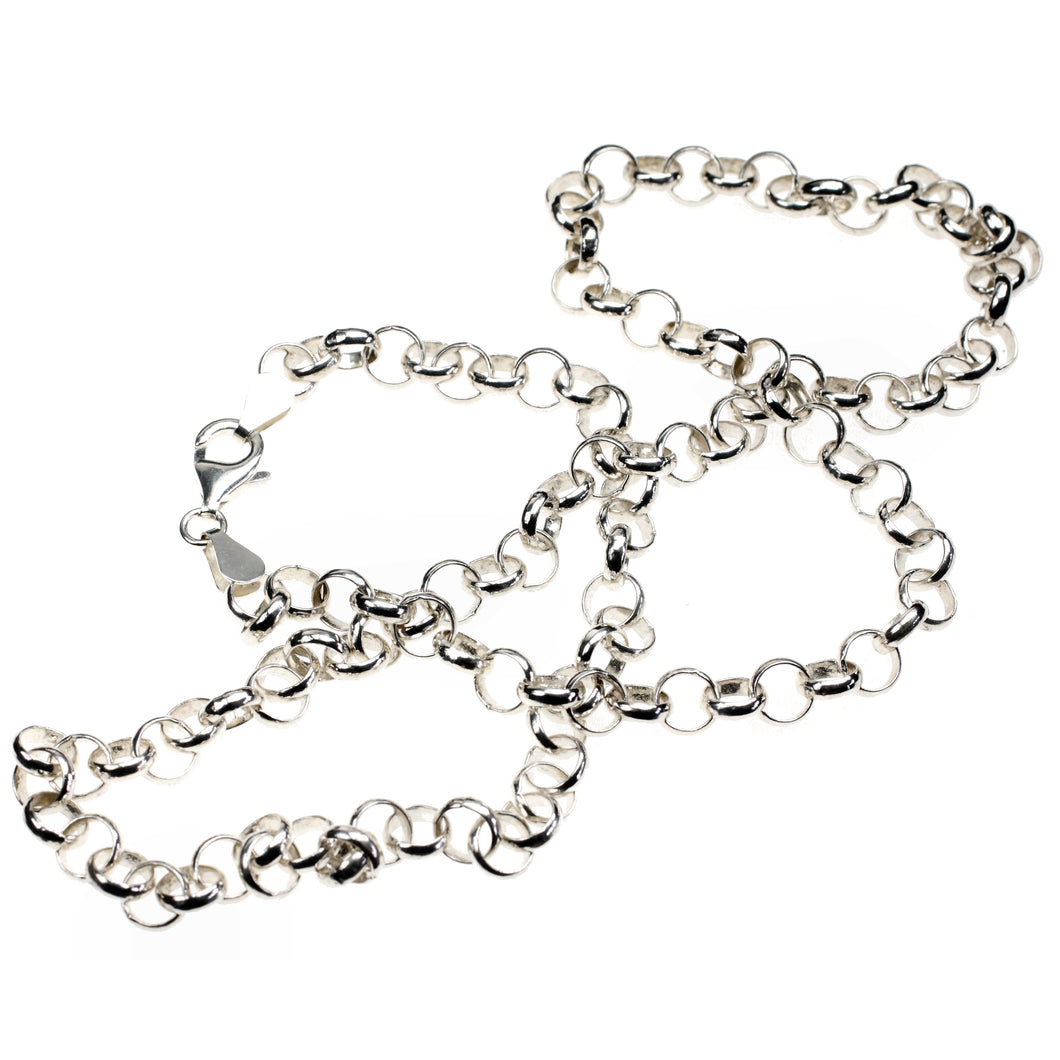 Heavy Silver Necklace Popcorn Chain