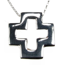 Load image into Gallery viewer, Cutaway Silver Cross Pendant