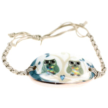 Load image into Gallery viewer, Owl Love Porcelain Bracelet