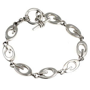 G is For Silver Bracelet