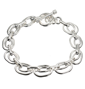 Surrounded Silver Bracelet