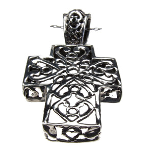 Sterling Silver Fretted Cross Pendant