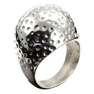 Dimple Dome Silver Ring
