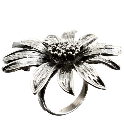 Sunflower Silver Ring