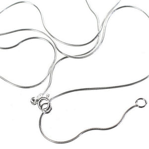 Adjustable Fine Silver Snake Chain