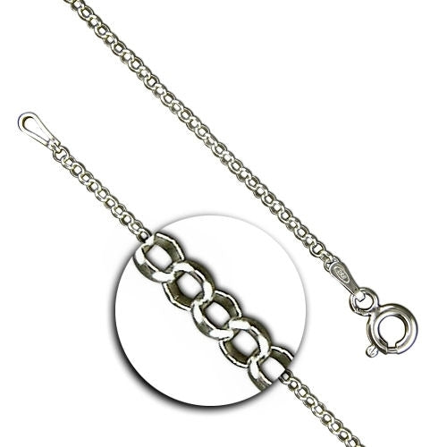 30 inch Light Silver Curb Chain