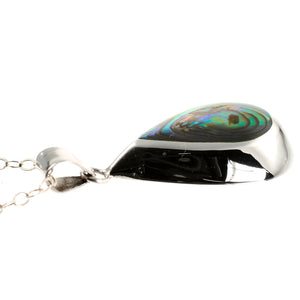 Sterling Silver Abalone Paua Shell Necklace Pendant