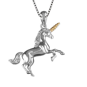 Solid Sterling Silver Unicorn Necklace