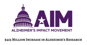 $425 MILLION INCREASE IN ALZHEIMER'S RESEARCH