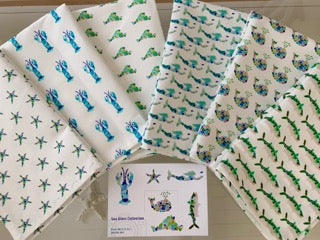 Sea Glass Tea Towels