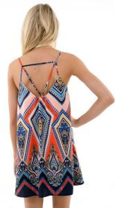 Paisley Spider Back Dress