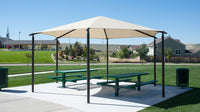 Hexagon Hip Shade Structure - The Sun Shade Company