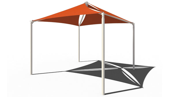 Quad Sail Shade Structure - The Sun Shade Company