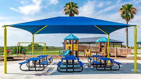 Rectangle Hip Shade Structure - The Sun Shade Company