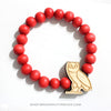 OVO Owl Wood Bracelet - Red