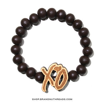 XO Wood Bracelet - Brown - BrandNuThreads.com