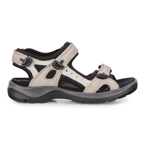 Ecco women's Yucatan Offroad Sandals 69563-54695 atmosphere/ice w./black