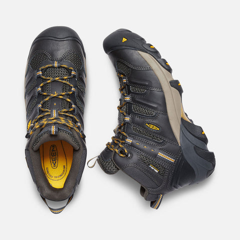 Keen Utility men's Lansing Mid C.S.A 1019322 raven SIZE 7 WIDE