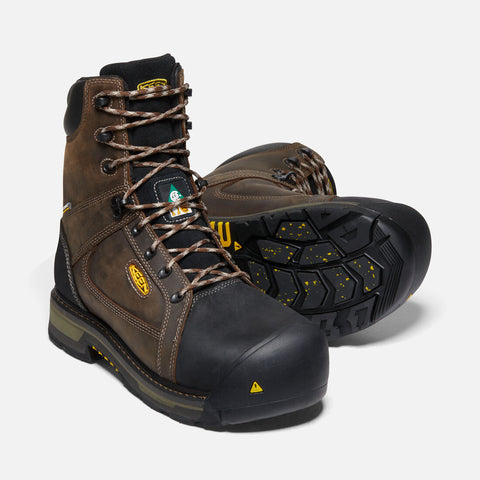 "Keen Utility men's Oakland 8"" C.S.A 1020087 bison/black"