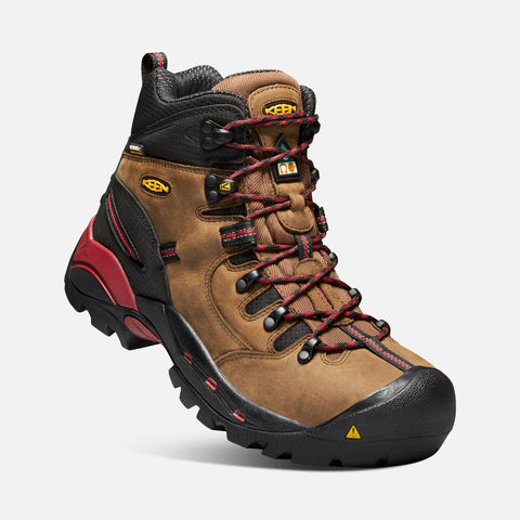 Keen Utility men's CSA Hamilton Waterproof Boot (carbon fiber toe) 1020096 bison/jester red