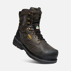 "Keen Utility men's Philadelphia 8"" C.S.A Insulated 600G 1022081 cascade brown/black"