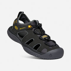 Keen men's 1022246 SOLR Sandal black/gold