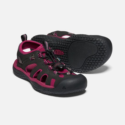 Keen women's SOLR sandal 1022454 raspberry wine/black