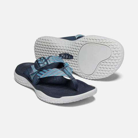 Keen women's SOLR Toe Post Sandal 1022510 navy/blue mist
